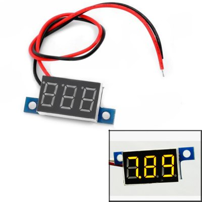 DIY Three Bit 0.36 inch Yellow LED Display Voltage Meter ( 3.3  -  30 V ) for DIY Project