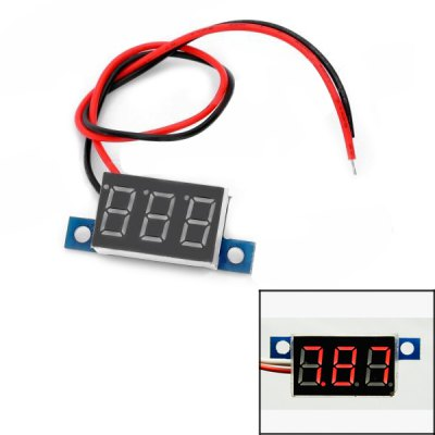 3.3 - 30 V 0.36 inch 3 Digital Red LED Display Voltmeter