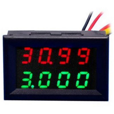 Jtron 0.28 inch 4 Digit Red Green LED Display Voltmeter Current Meter