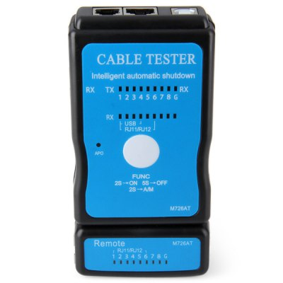 M726AT Full Function 2 Modes LAN RJ45 RJ11 USB Cable Tester Audio Network Cord Meter for Computer