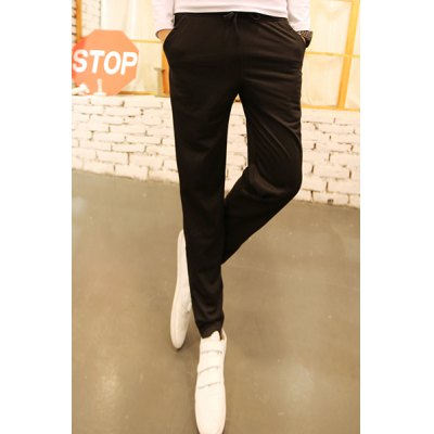 Гаджет   Casual Style Lace-Up Color Block Stripes Embellished Loose Fit Narrow Feet Men