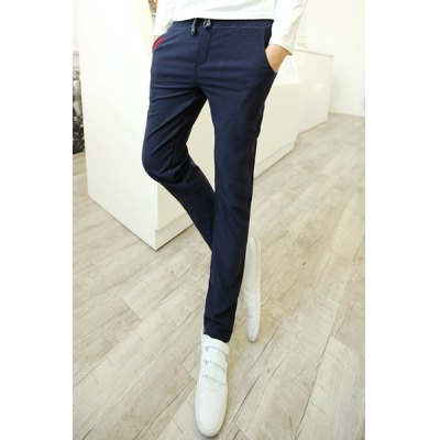 Гаджет   Trendy Color Block Print Embellished Pocket Lace-Up Slimming Narrow Feet Men