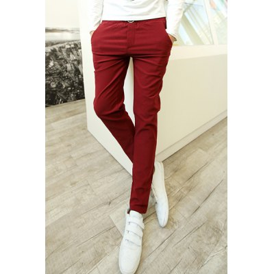 Гаджет   Fashionable Elastic Waist Skulls Embellished Slimming Print Purfle Narrow Feet Men