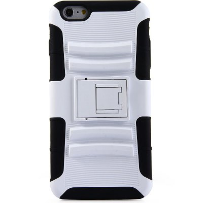 Гаджет   Practical Stand Design Silicone and PC Back Case Cover for iPhone 6 Plus  -  5.5 inches iPhone Cases/Covers