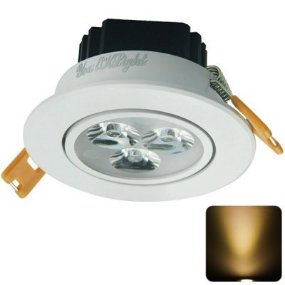 YouOKLight 3W 3 SMD 2835 LEDs 450Lm Warm White LED Ceiling Lamp