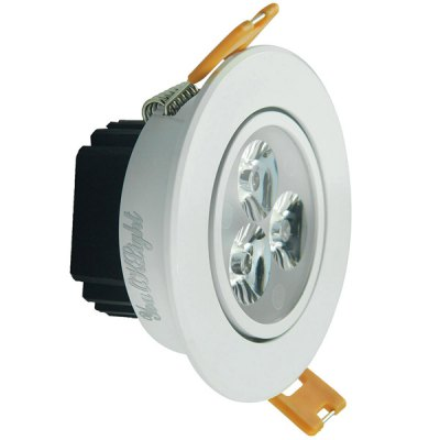 YouOKLight 3W 450Lm SMD 2835 3 LEDs Light Silver Recessed LED Down Lamp  -  3000K