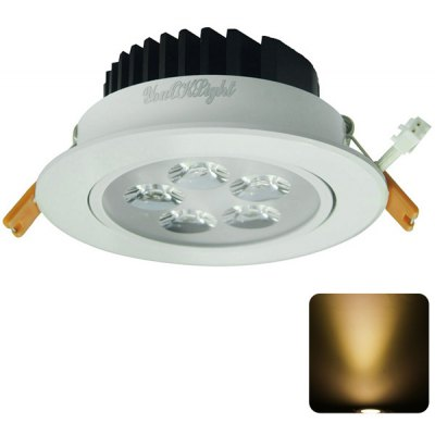 YouOKLight 5W 5 SMD 2835 LEDs 3000K 450LM Ceiling Downlight  -  AC 100  -  240V