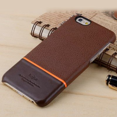 ФОТО Kajsa Genuine Leather Coated PC Protective Back Hard Case of Cherry Stripe Pattern Design for iPhone 6 Plus  -  5.5 inches