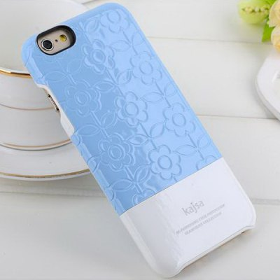 Гаджет   Kajsa PC + Fiber Protective Back Hard Case of Flower Pattern Design for iPhone 6  -  4.7 inches