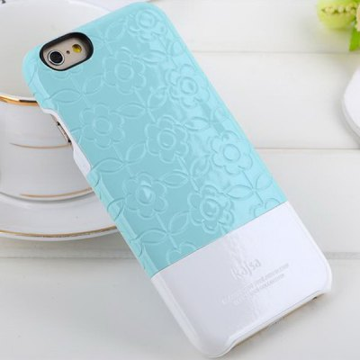 Kajsa PC + Fiber Protective Back Hard Case of Flower Pattern Design for iPhone 6  -  4.7 inches