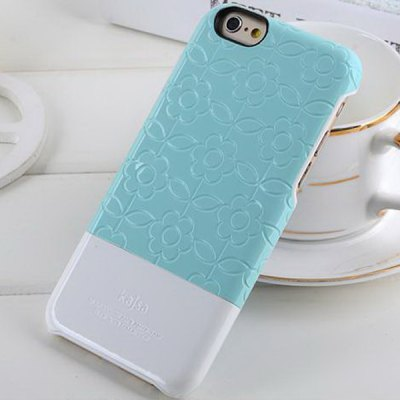 Фотография Kajsa PC + Fiber Protective Back Hard Case of Flower Pattern Design for iPhone 6  -  4.7 inches