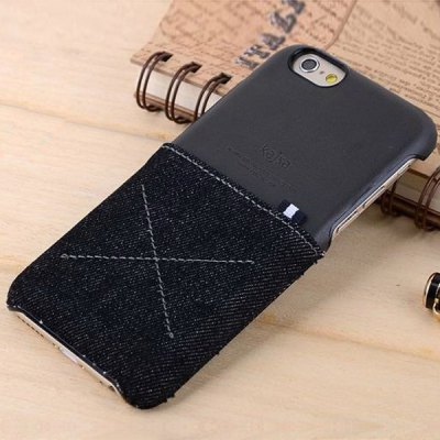 Гаджет   Kajsa PC 4.7 inch Phone Case Jeans Pattern Pocket Hard Back Cover with Card Holder Function for iPhone 6 iPhone Cases/Covers