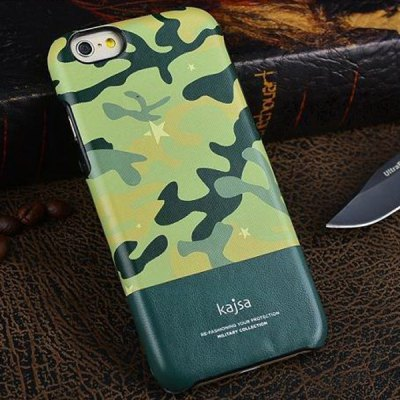 Гаджет   Kajsa Stylish Camouflage Pattern PU Leather and PC Hard Back Case Cover for iPhone 6 Plus  -  5.5 inches iPhone Cases/Covers