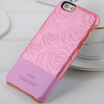 Фотография Kajsa PU + PC Protective Back Hard Case of Rose Pattern Design for iPhone 6  -  4.7 inches
