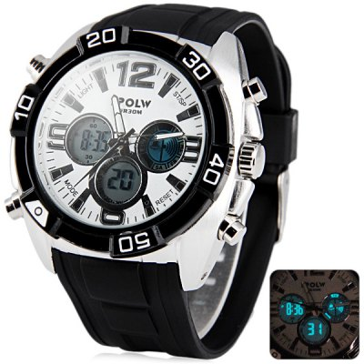 Hpolw 606 Military Sports LED Watch Multifunction 30M Water Resistant Double Time
