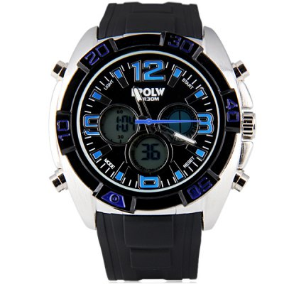 Фотография Hpolw 606 Military Sports LED Watch Multifunction 30M Water Resistant Double Time