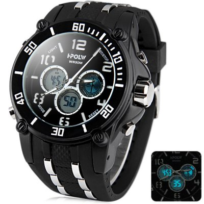 Гаджет   Hpolw 811A Dual Movt Multifunctional LED Sports Military Watch 30M Water Resistant
