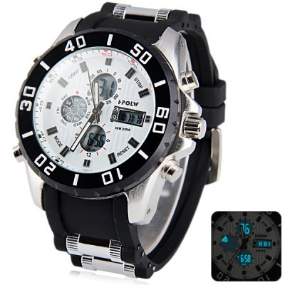 Гаджет   Hpolw 596 Military Sports LED Watch Multifunction Water Resistant Double Display Japan Movt Women