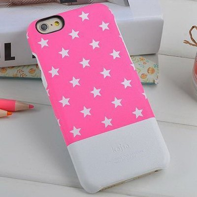 Kajsa Stylish Star Pattern PU Leather and PC Hard Back Case Cover for iPhone 6 Plus ( 5.5 inches ) - KajsaiPhone Cases/Covers<br>Kajsa Stylish Star Pattern PU Leather and PC Hard Back Case Cover for iPhone 6 Plus ( 5.5 inches )<br><br>Brand: Kajsa<br>Compatible for Apple: iPhone 6 Plus<br>Features: Back Cover<br>Material: Polycarbonate, PU Leather<br>Style: Modern<br>Color: Black, Pink, Blue, Gray<br>Product weight : 0.035 kg<br>Package weight : 0.057 kg<br>Product size (L x W x H): 16.0 x 8.0 x 1.0 cm / 6.3 x 3.1 x 0.4 inches<br>Package size (L x W x H) : 19.0 x 10.0 x 2.0 cm<br>Package contents: 1 x Case