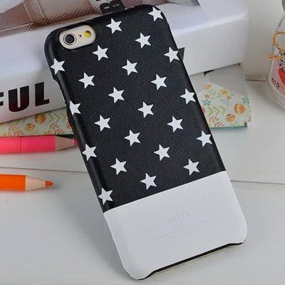 Гаджет   Kajsa Stylish Star Pattern PU Leather and PC Hard Back Case Cover for iPhone 6 Plus ( 5.5 inches ) iPhone Cases/Covers