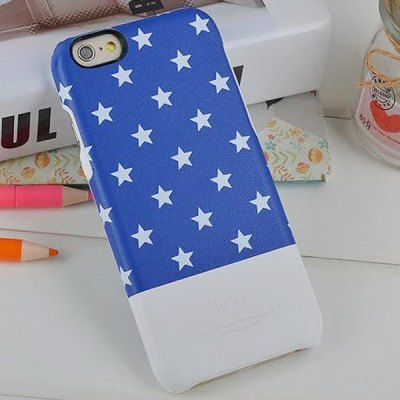 ФОТО Kajsa PU + PC Protective Back Hard Case of Star Pattern Design for iPhone 6  -  4.7 inches
