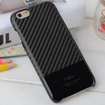 ФОТО Kajsa PU + PC Protective Back Hard Case of Carbon Fiber Pattern Design for iPhone 6 Plus  -  5.5 inches