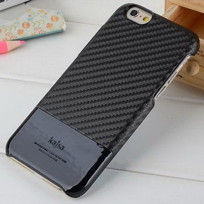 Фотография Kajsa Novelty PU and PC Material 4.7 inch Phone Case Carbon Fiber Pattern Hard Back Cover for iPhone 6