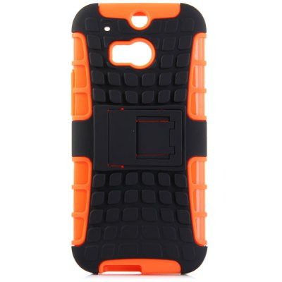 Гаджет   Practical Tyre Texture TPU and PC Back Case Cover with Stand for HTC M8 Other Cases/Covers
