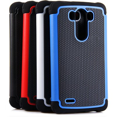 Practical Football Texture Silicone and PC Back Case Cover for LG Optimus G3