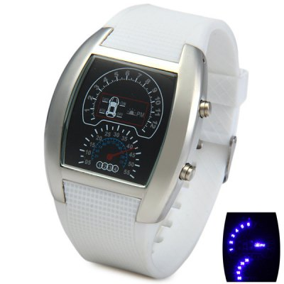 Гаджет   LED Watch Date Day Display Rubber Wristband Rectangle Dial Sports Watches