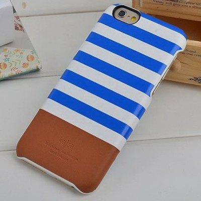 ФОТО Kajsa PU + PC Protective Back Hard Case of Stripe Pattern Design for iPhone 6 Plus  -  5.5 inches