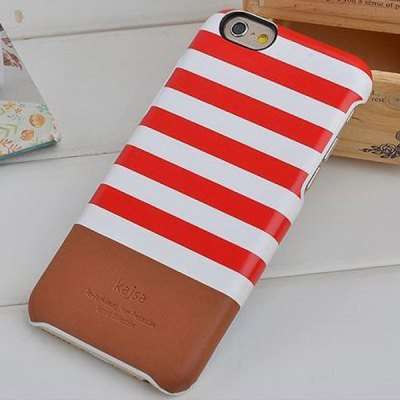 Kajsa Stylish Stripe Pattern PU Leather and PC Hard Back Case Cover for iPhone 6  -  4.7 inches - KajsaiPhone Cases/Covers<br>Kajsa Stylish Stripe Pattern PU Leather and PC Hard Back Case Cover for iPhone 6  -  4.7 inches<br><br>Brand: Kajsa<br>Compatible for Apple: iPhone 6<br>Features: Back Cover<br>Material: Polycarbonate, PU Leather<br>Style: Modern<br>Color: Red, Blue, Black<br>Product weight : 0.028 kg<br>Package weight : 0.05 kg<br>Product size (L x W x H): 14.2 x 7.1 x 0.8 cm / 5.6 x 2.8 x 0.3 inches<br>Package size (L x W x H) : 19.0 x 10.0 x 2.0 cm<br>Package contents: 1 x Case