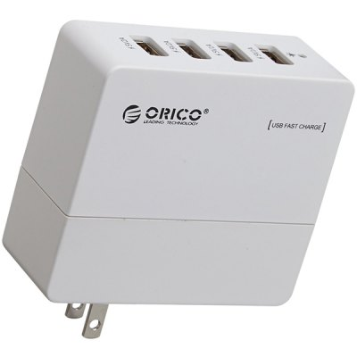 ORICO DCA - 4U Compact 4 Port USB Wall Charger for iPhone iPad Samsung HTC  -  100 - 240V