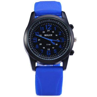 Bolun C1149 Round Dial Male Quartz Watch Rubber Band for MenMens Watches<br>Bolun C1149 Round Dial Male Quartz Watch Rubber Band for Men<br><br>Watches categories: Male table<br>Watch style: Casual<br>Available color: White, Blue, Yellow, Black<br>Movement type: Quartz watch<br>Shape of the dial: Round<br>Display type: Analog<br>Case material: Stainless steel<br>Band material: Rubber<br>Clasp type: Pin buckle<br>The dial thickness: 1.2 cm / 0.5 inches<br>The dial diameter: 4.0 cm / 1.6 inches<br>The band width: 2.0 cm / 0.8 inches<br>Product weight: 0.059 kg<br>Product size (L x W x H): 25.7 x 4.0 x 1.2 cm / 10.1 x 1.6 x 0.5 inches<br>Package Contents: 1 x Watch