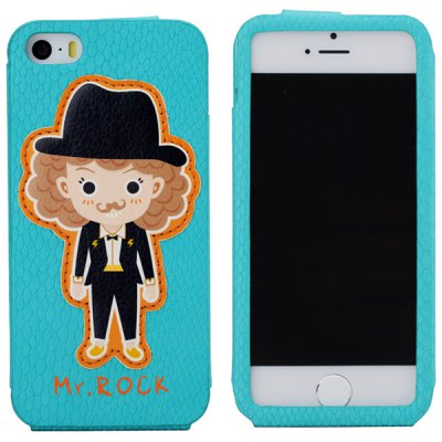 ФОТО Rock Mr. Rock Pattern PU Material Back Cover Case for iPhone 5 5S
