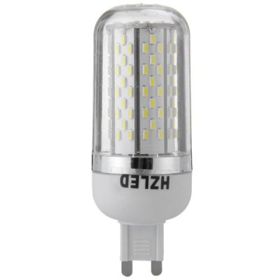 HZLED 5.5W G9 120 x SMD 3014 6000K 350Lm LED Corn Light with Silver Edged
