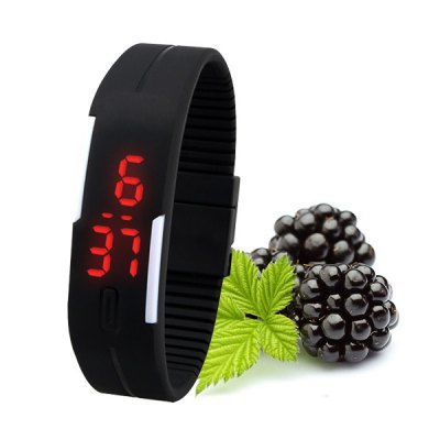 Time Week Month Display Bright Color Touch Screen Water Resistant Bracelet Watch