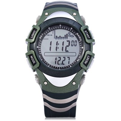 Foxguider FX704S Military Digital Fishing Barometer Watch Thermometer Altimeter Water Resistant Multifunction Sports Wristwatch