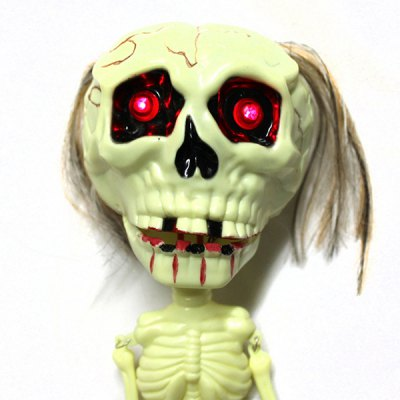30cm Horror Voice Hanging Skeleton Toy with Voice Control Function Prank Tricky Toy