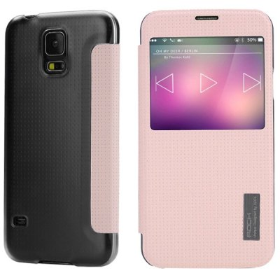 Гаджет   Rock Smart Sleep PU and PC Cover Case for Samsung Galaxy S5 i9600 SM - G900 Samsung Cases/Covers