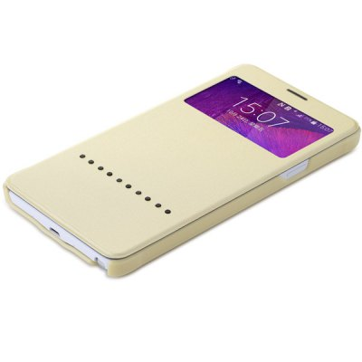 Фотография Rock Sliding to Answer PU and PC Cover Case for Samsung Galaxy Note 4 N9100