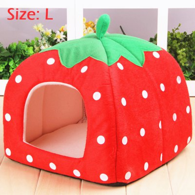 Sweet Strawberry Design Pet Dog Bed Doghouse Kennel Cozy Space for Miniature Poodle Mini Schnauzer Pekingese etc.Cat Beds &amp; Furniture<br>Sweet Strawberry Design Pet Dog Bed Doghouse Kennel Cozy Space for Miniature Poodle Mini Schnauzer Pekingese etc.<br><br>For: Dogs, Cats<br>Type: Beds<br>Material: Fleece<br>Features: Strawberry Design<br>Size: L, M, S<br>Season: Autumn, Spring, Winter<br>Color: Rose, Blue, Red<br>Package Contents: 1 x Doghouse