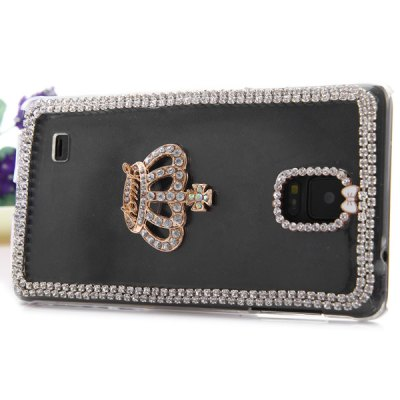Фотография Transparent PC Material Crown Pattern Diamante Back Cover Case for Samsung Galaxy Note 4 N9100
