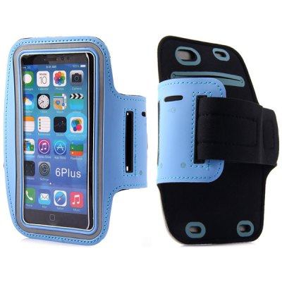 Гаджет   High Quality Lycra Sports Armband Pouch Cover Case with Double Holes Design for iPhone 6 Plus  -  5.5 inches