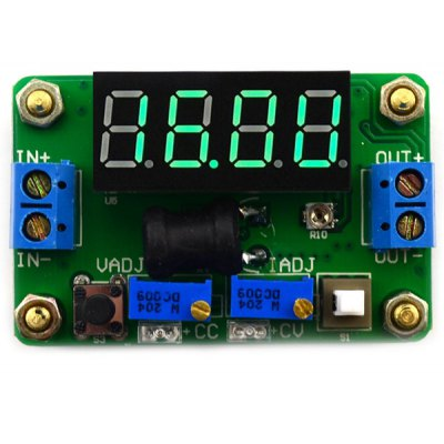 4 Digital Green LED Display Constant Voltage and Current Buck Module ( DC 4.5  -  24V to DC 0.9  -  20V )
