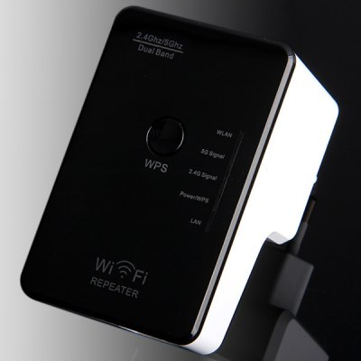 DWR02 Dual Band Repeater 2.4GHz 5GHz 300Mbps Wireless Router - EU Plug