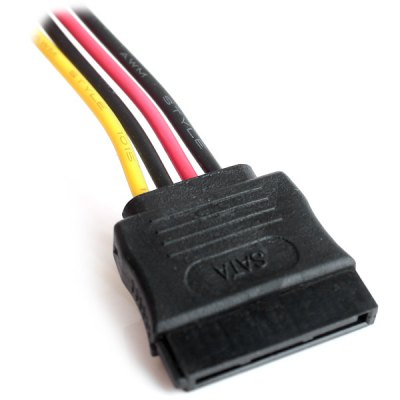 High Performance IDE 4Pin Male to SATA 15Pin Female Power Connection Line  -  1.5M