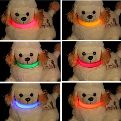 Pet Dog LED Safety Collar for Night Walking Powered by CR2032 Battery