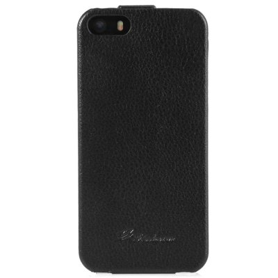 Фотография Vertical Top Flip Cover Case of PU Leather and Plastic Material for iPhone 5 5S
