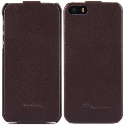 ФОТО Vertical Top Flip Cover Case of PU Leather and Plastic Material for iPhone 5 5S